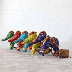 Guirlande éléphants décorative