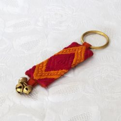 Porte-clés en tissu Phulkari