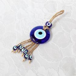 Oeil Turc, sur corde à suspendre (17 cm)