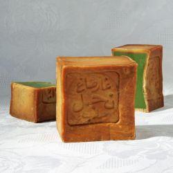 Savon d'Alep, 40% huile de baies de laurier, pain de 200g coupé