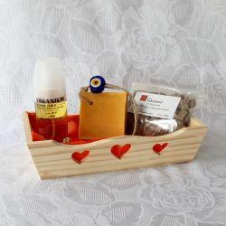 Coffret huile d'argan bio 50 ml, savon et rhassoul