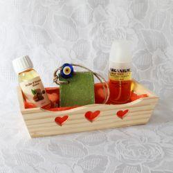 Coffret huile d'argan bio, amande douce bio et savon