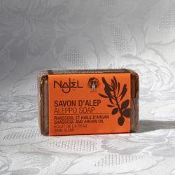 Savon d'Alep Rhassoul et huile d'Argan 100 g