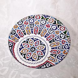 Plat en céramique de Fès, vue du recto
