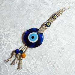 Oeil Turc, macramé à suspendre (25 cm)