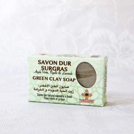 Savon naturel Argile verte et huile de Nigelle, saponifié à froid 100g