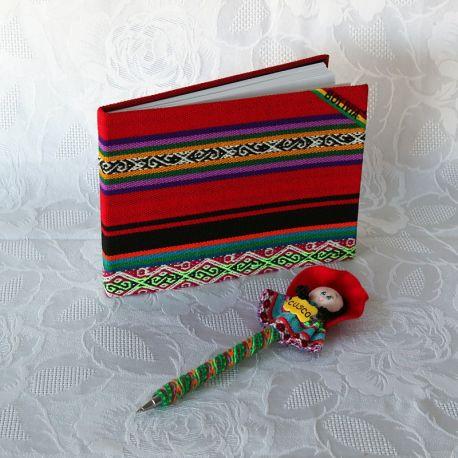Parure carnet et stylo d'Amérique latine - carnet ouvert