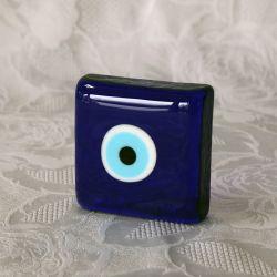 Oeil porte-bonheur Turc, presse-papiers (carré)