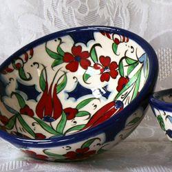 Bols faits main, motif traditionnel d'Iznik (lot de 2)