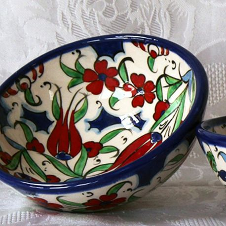Bols faits main, motif traditionnel d'Iznik (lot de 2)