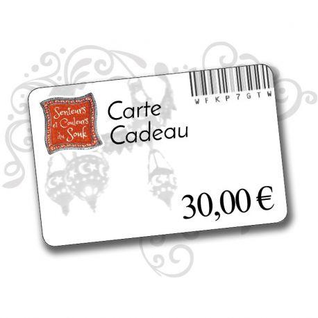 Carte cadeau 30 euros