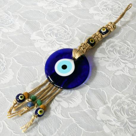 Oeil Turc, tresse à suspendre (38 cm)