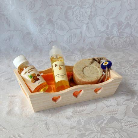 Coffret huile d'argan bio, huile d'amande douce bio et savon nigelle laurier