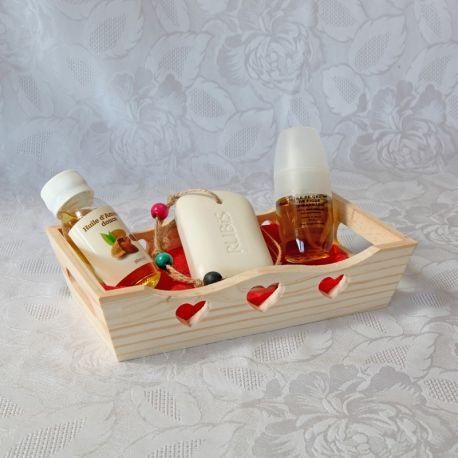 Coffret huile de figue de barbarie bio, huile d'amande douce bio et savon à suspendre