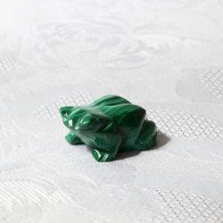 Grenouille porte-bonheur en malachite