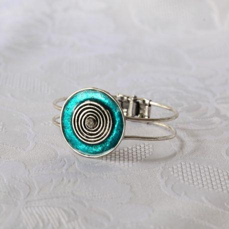 Bracelet métal fantaisie bleu turquoise
