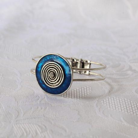 Bracelet métal fantaisie bleu