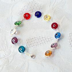 Bracelet oeil Nazar Boncuk multicolore