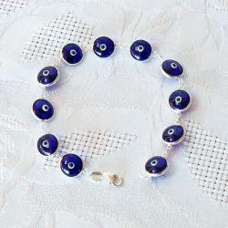 Bracelet oeil Nazar Boncuk bleu nuit