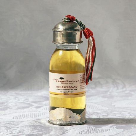 Huile d'argane Maroc, flacon artisanal 60 ml